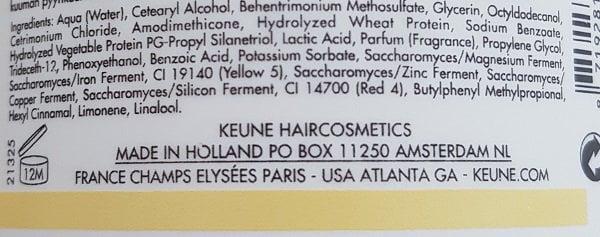 Kaukė sausiems plaukams Keune Care 200ml sudėtis