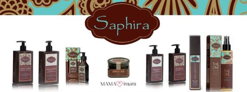Saphira plaukų priemonės su negyvosios jūros mineralais