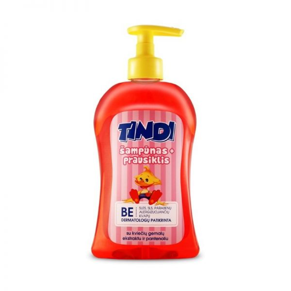 Vaikiškas šampūnas - prausiklis Tindi su kviečiais 500ml