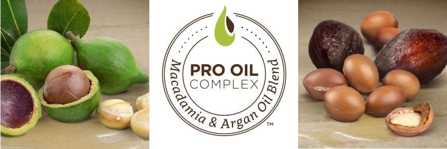 macadamia pro oil komplesu praturtinti produktai plaukams