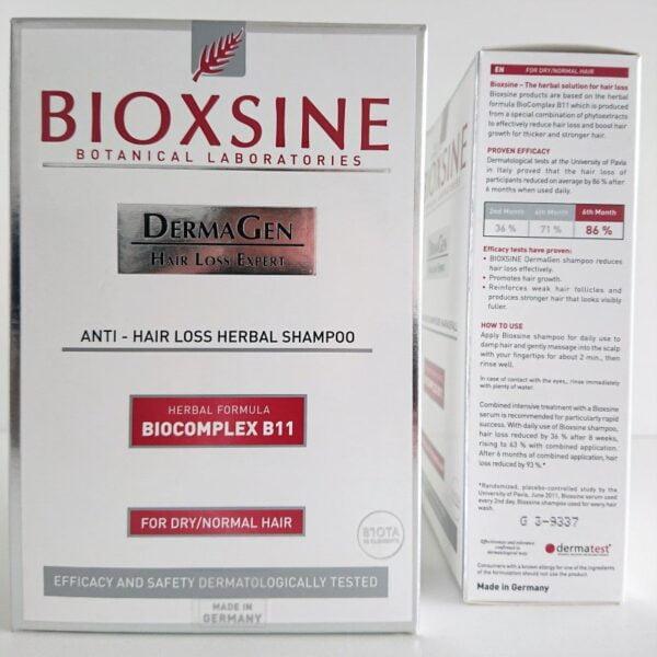 Bioxsine DermaGen šampūnas stabdantis plaukų slinkimą normaliems ir sausiems plaukams 300ml