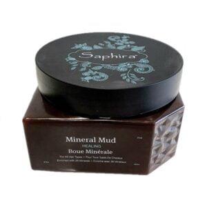 Mineralinis purvas plaukams su keratinu Saphira Mineral Mud Healing