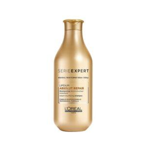 Šampūnas pažeistiems plaukams Loreal Absolut Repair Lipidium 300ml