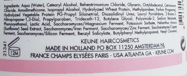 Kaukės dažytų plaukų apsaugai Keune Care 500ml sudėtis