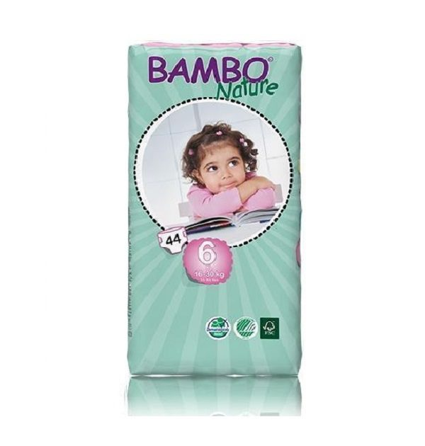 Sauskelnės Bambo Nature Duo XL 6, 16-30kg, 44vnt.