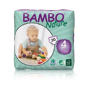 Sauskelnės Bambo Nature Maxi 4, 7-18kg, 30vnt.