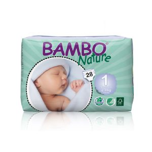 Sauskelnės Bambo Nature Newborn 1, 2-4kg, 28vnt.