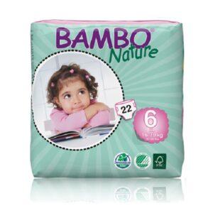 Sauskelnės Bambo Nature XL 6, 16-30kg, 22vnt.