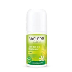 Rutulinis dezodorantas su citrinmedžių ekstraktu Weleda Citrus 24h, 50ml