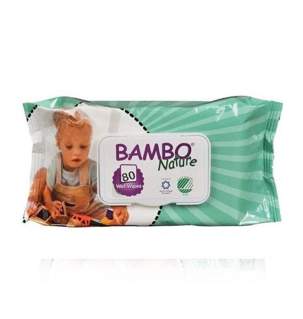 Drėgnos servetėlės vaikams Bambo Nature 80vnt.