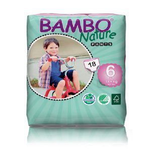 Sauskelnės-kelnaitės Bambo Nature XL 6, 18+kg, 18vnt.