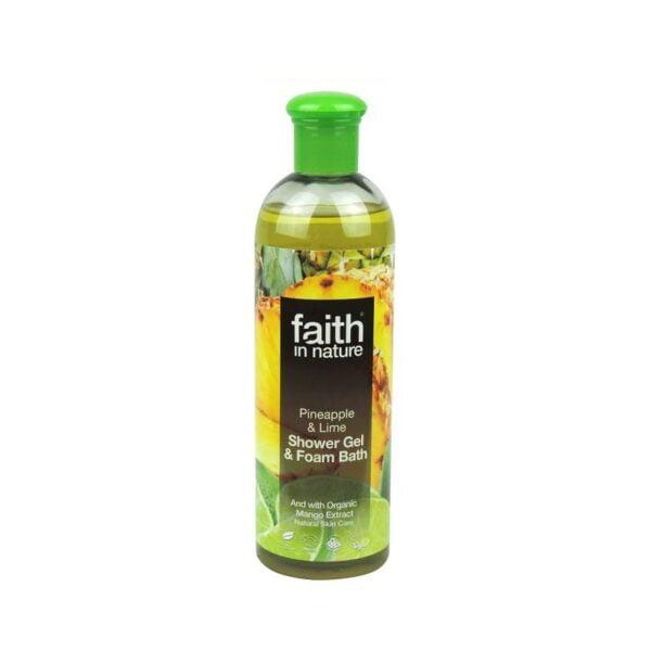 Dušo gelis ananasų ir žaliųjų citrinų kvapo Faith In Nature