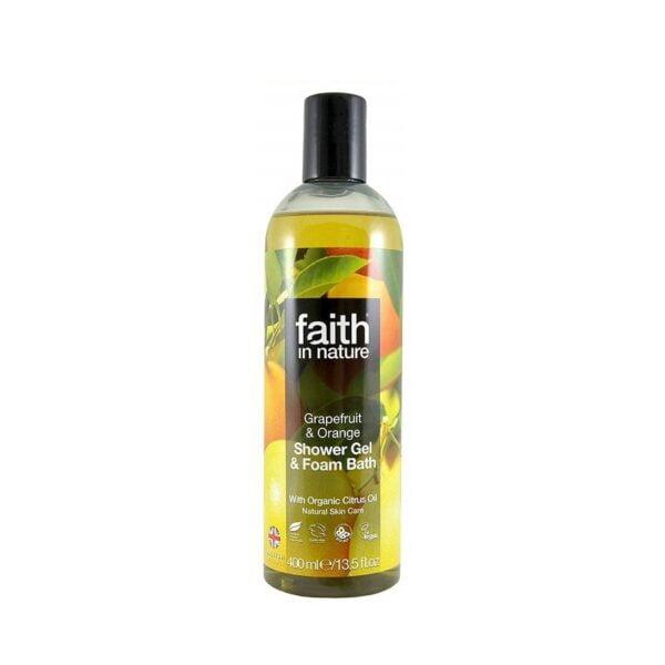 Dušo gelis greipfrutų ir apelsinų kvapo Faith In Nature