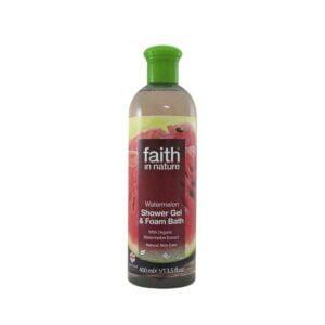 Dušo gelis ir vonios putos arbūzų kvapo Faith In Nature