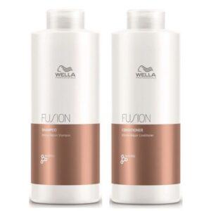 Rinkinys intensyviam plaukų atkūrimui Wella Fusion Duo XL