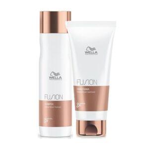 Rinkinys intensyviam plaukų atkūrimui Wella Fusion Duo