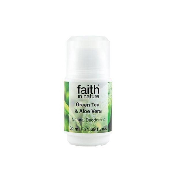 Rutulinis dezodorantas su alavijais ir žaliąja arbata Faith In Nature 50ml