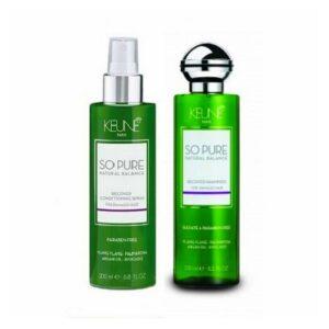 Rinkinys pažeistiems plaukams Keune So Pure Duo Spray