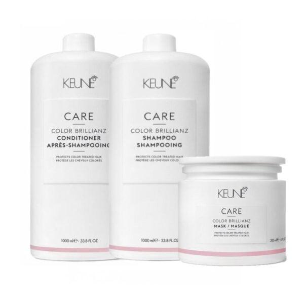 Rinkinys dažytų plaukų apsaugai Keune Care Trio XL