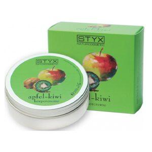 Kūno kremas su kivių ir obuolių ekstraktais STYX 200ml