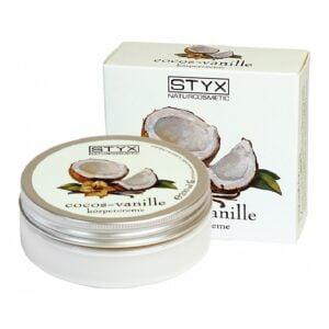 Kūno kremas su kokosų ir vanilės ekstraktu STYX 200ml