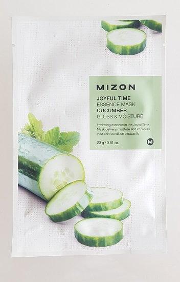 Skaistinanti ir drėkinanti lakštinė veido kaukė su agurkų ekstraktu Mizon