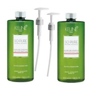 Rinkinys dažytų plaukų apsaugai Keune So Pure Duo XL