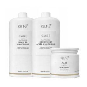 Rinkinys pažeistiems ir sausiems plaukams Keune Care Trio XL