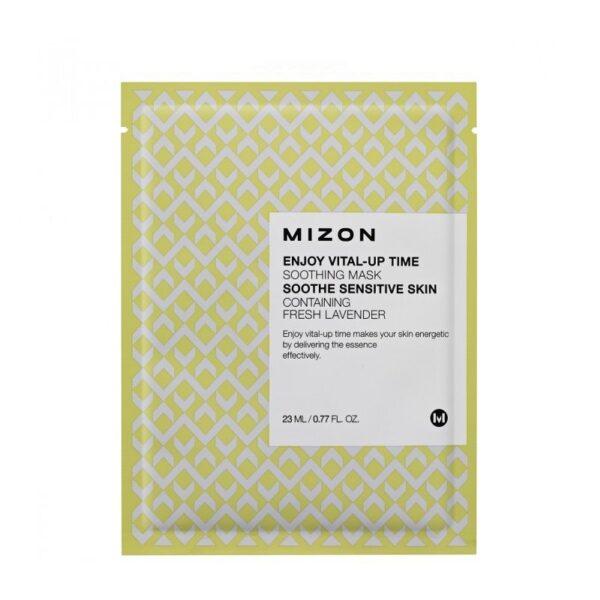 Raminanti odą lakštinė veido kaukė Mizon Enjoy Vital-Up Time Soothing Mask 1 vnt.