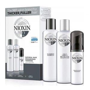 Rinkinys slenkantiems plaukams Nioxin sistema nr.2 natūraliems - stipriai retėjantiems