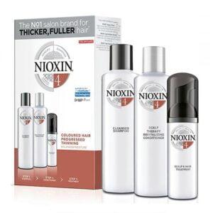 Rinkinys slenkantiems plaukams Nioxin sistema nr.4 dažytiems - stipriai retėjantiems
