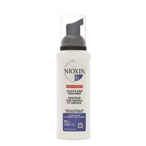 Priemonė nuo plaukų slinkimo Nioxin nr.6 100ml DAŽYTIEMS – STIPRIAI RETĖJANTIEMS
