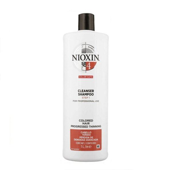 Šampūnas slenkantiems plaukams Nioxin nr.4 1000ml DAŽYTIEMS – STIPRIAI RETĖJANTIEMS