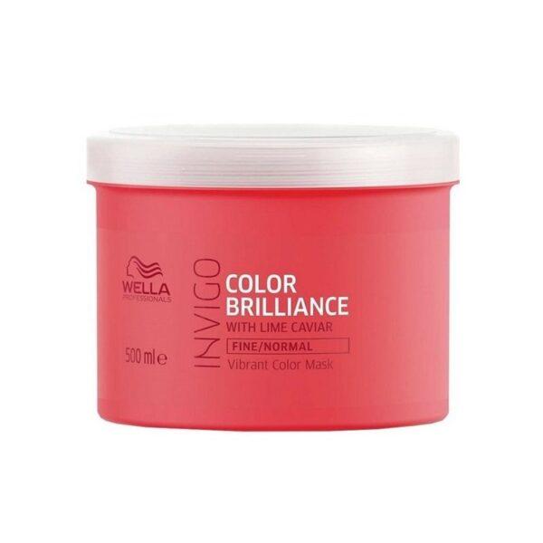 Kaukė dažytiems normaliems ir ploniems plaukams Wella Invigo Color Brilliance 500ml