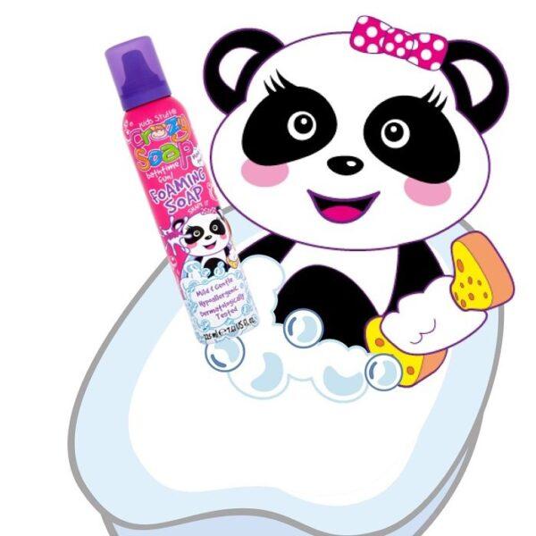 Rožinės purškiamos muilo putos Kids Stuff Crazy Foaming Soap
