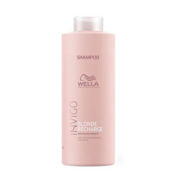 Šampūnas neutralizuojantis geltoną atspalvį Wella Invigo Cool Blonde Color Recharge 1000ml