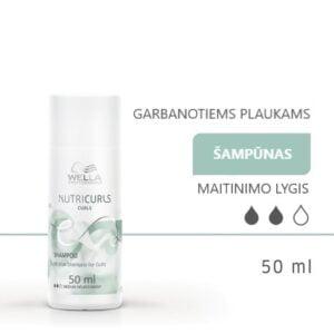 wella nutricurls micelinis šampūnas garbanotiems plaukams 50 ml