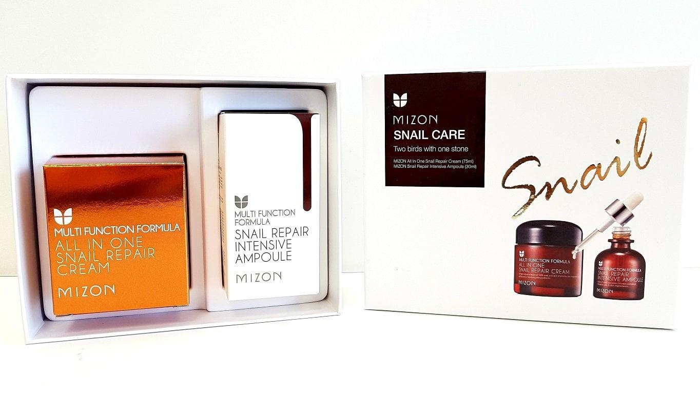 Rinkinys veido odos priežiūrai Mizon Snail Care