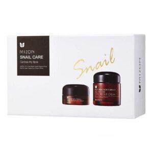 Rinkinys veido ir paakių odos priežiūrai Mizon Snail Care 25+75ml