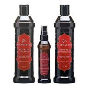 Rinkinys plaukų priežiūrai Marrakesh Trio Oil Original
