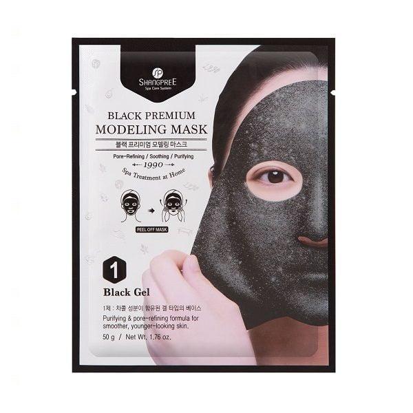 1 veido kaukės SHANGPREE Black Pemium juodasis gelis