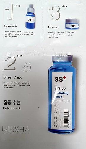 3 žingsnių drėkinanti veido kaukė su hialuronu MISSHA
