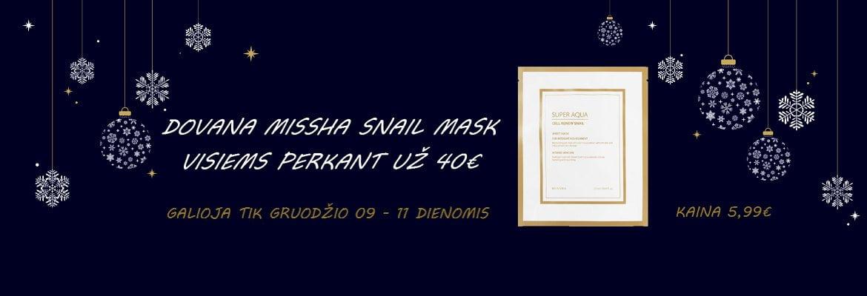 Akcija MISSHA kaukė dovanų perkant už 40 euru