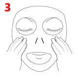Lakštinės veido kaukės Missha naudojimas 3 žingsnis