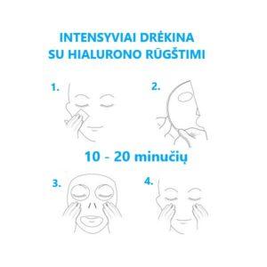 Lakštinės veido kaukės Missha Mascure Hydra Solution naudojimas