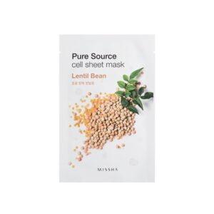 Veido kaukė su lęšių ekstraktu MISSHA Pure Source Lentil Bean