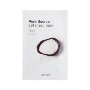 Veido kaukė su ryžiųų ekstraktu MISSHA Pure Source Rice 21g