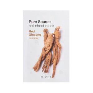 Veido kaukė su ženšenio ekstraktu MISSHA Pure Source Red Ginseng 21g