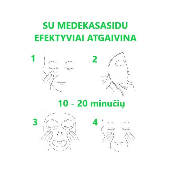 Veido kaukės su medekasasidu MISSHA Mascure Rescue Solution naudojimas