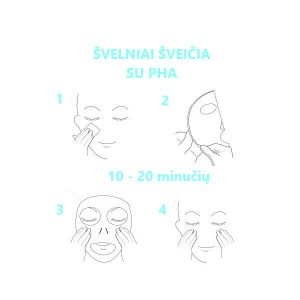 Veido kaukės su PHA MISSHA Mascure Peeling Solution naudojimas
